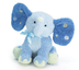 blue elephant plush rattle polka ears