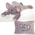 fiesta peek-a-boo plush elephant pillow unzips