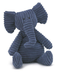 jellycat plush cordy navy blue elephant