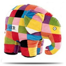 Elmer The Patchwork Elephant Large Plush