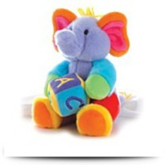 Plush 12 Abcs Musical Elephant