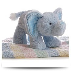 Plush Baby 12 Inches Blue Lil Elephant