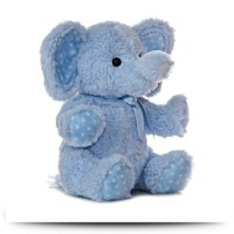 Plush Baby 18 Inches Blue Lotsa Dots