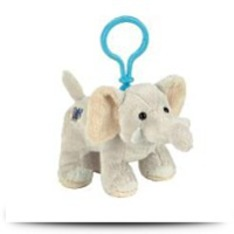 Buy Now Plush Kinz Klip Velvety Elephant