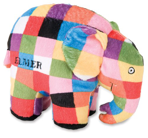 Elmer The Patchwork Elephant Bean Bag