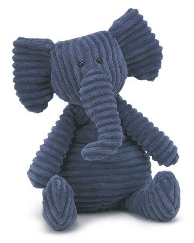 Plush Cordy Roy Navy Blue Elephant 15